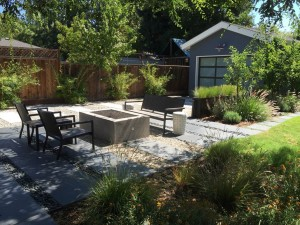 Bonnie uses mulch and stones to reduce hardscapes