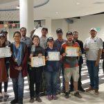 Green Gardeners with certificates