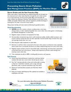 Machine Shop Fact Sheet