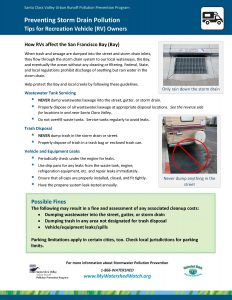 Preventing Storm Drain Pollution for RV owners