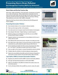 Stop storm drain pollution: for restaurants fact sheet